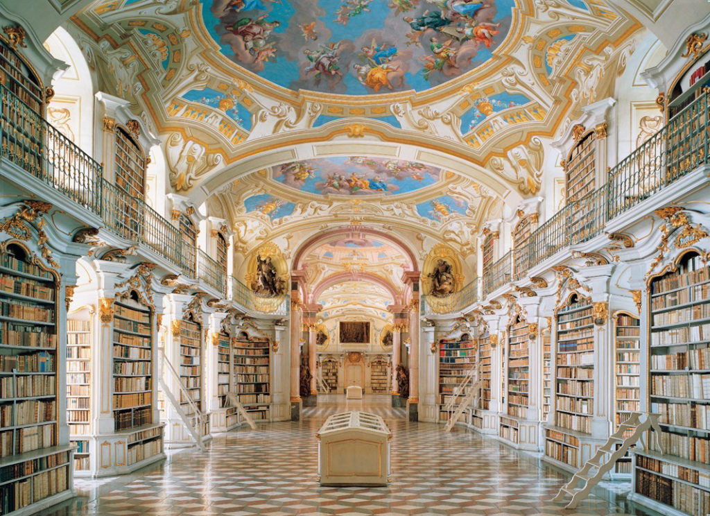 beautiful marble library