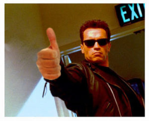 schwarzenegger giving thumbs up