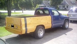 custom wood truck bed